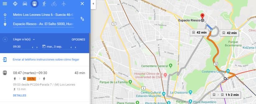 sugerencia de ruta